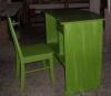 birou-scaun-magazin-spatiu-comercial-masiv-brad-vopsit-verde
